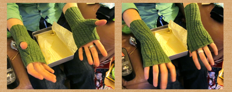 Fingerless gloves (purchased pattern)