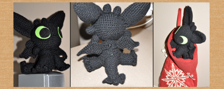 Crocheted dragon (purchased pattern)