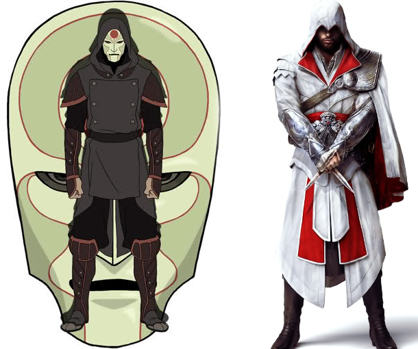 Amon's main tunic = Ezio's under tunic