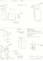 Notes from study of uniform jacket and skirt