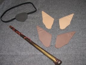 Eyepatch, elf ears, and wand