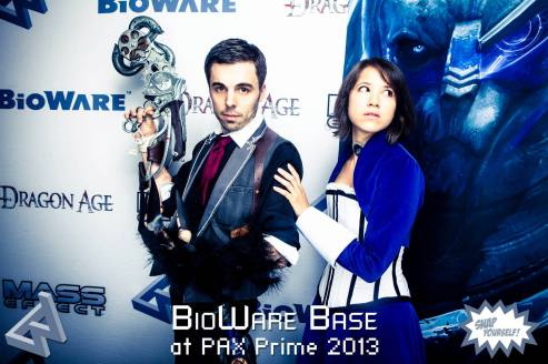 BioWare cosplay parade Photo Booth! One of our best photos.