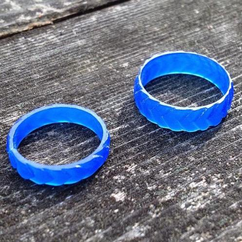Dragon scale wax rings