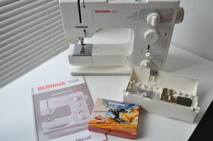 Manual and accessories included with used Bernina 1008