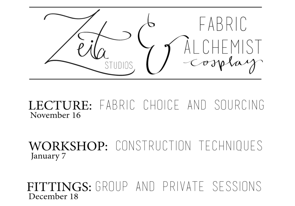 Big News: Cosplay Fabric Workshop with the Fabric Alchemist! (1/5)