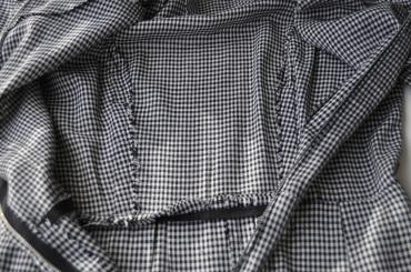 Dress Interior - unfinished seam edges, princess seams on bodice