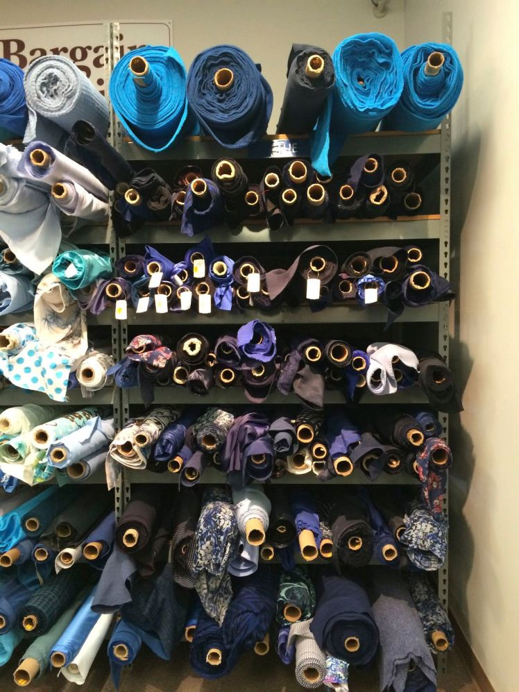 The dark blue section of the bargain wall.