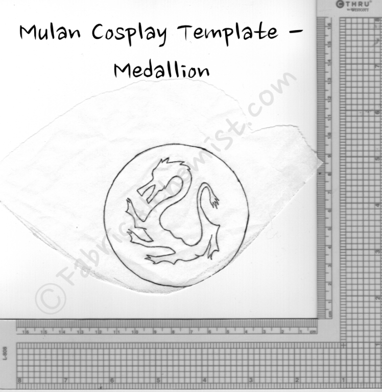 Mulan Medallion Template