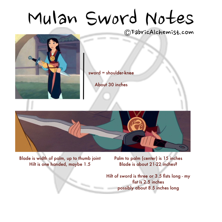Mulan Sword Notes
