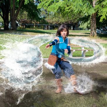 Legend of Korra cosplay water bending
