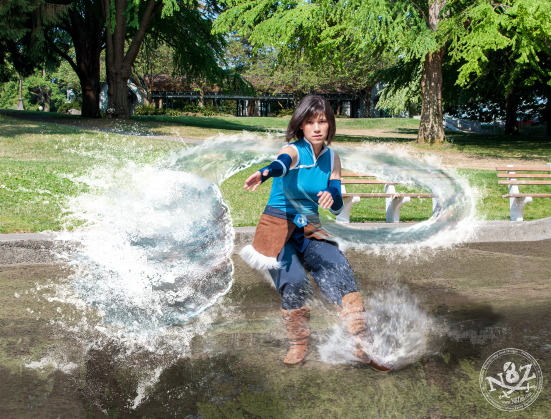 Legend of Korra cosplay water bending