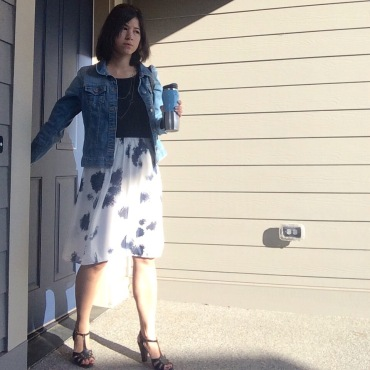 """Skirt refashioned from """"bubble dress"""""""