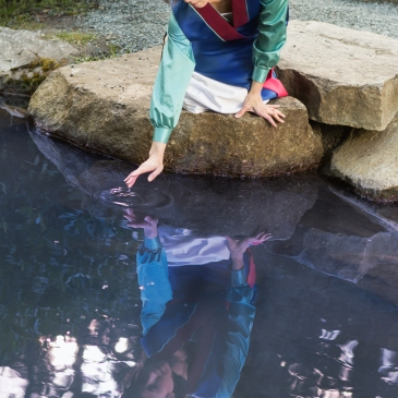 Mulan's reflection, cosplay by Fabric Alchemist, Photo by Lou Daprile