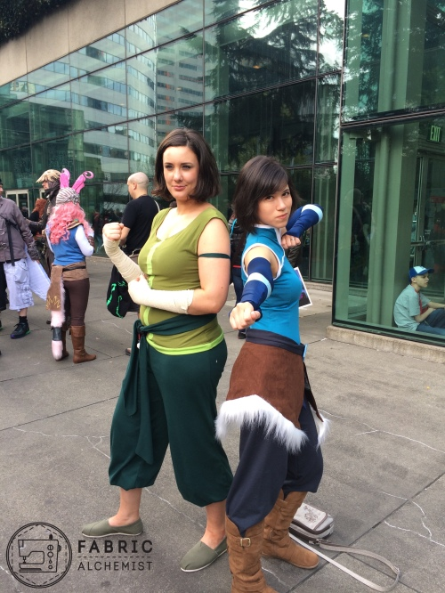 Two Korra Cosplayers